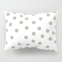 Simply Dots in Retro Gray on White Pillow Sham