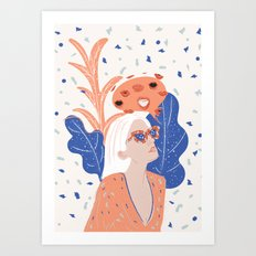 Thinkin About Kissin You Art Print