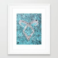 mortal instruments Framed Art Prints featuring Mortal Instruments Angelic Rune by Herk Designs