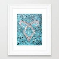 mortal instruments Framed Art Prints featuring Mortal Instruments Angelic Rune by Herk Designs