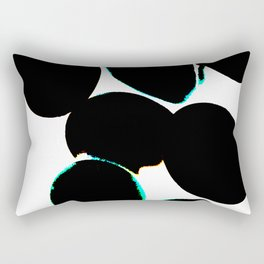 eggs, b&w abstract with a bit of color Rectangular Pillow