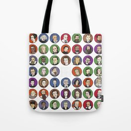 Portraits of Important Scientists Tote Bag
