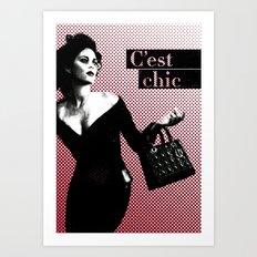 C'est Chic Art Print