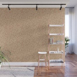 Cavern Clay SW 7701 Abstract Crescent Shape Pattern on Ligonier Tan SW 7717 Wall Mural