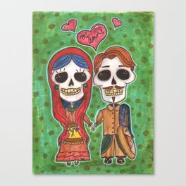 Te Amo Day of the Dead Canvas Print