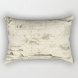Vintage Map of The Azores Islands (1797) Rectangular Pillow