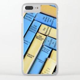Nancy Drew & Hardy Boy Book Weave Clear iPhone Case