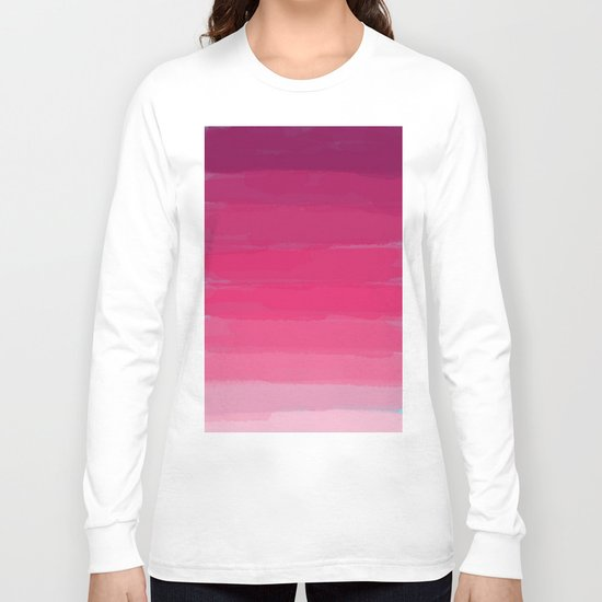Lipstick: Shades of Pink Gradient Color Study Long Sleeve T-shirt