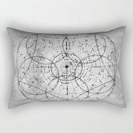 Old Metal 1880 sky map Rectangular Pillow