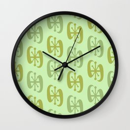 Starburst Bell Peppers Light Green Wall Clock