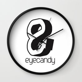 eyecandy hook - black Wall Clock