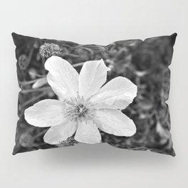 White Clematis Pillow Sham