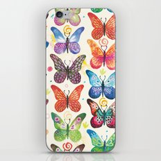 Colorful Butterflies iPhone & iPod Skin