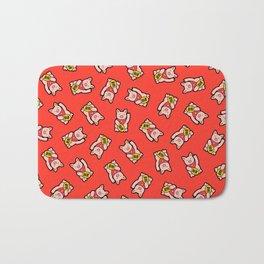 Lucky Pig Pattern Bath Mat