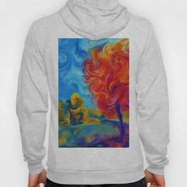 Abstract Landscape Art Painting Hoody