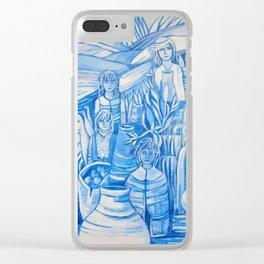 Blue window #5 Clear iPhone Case