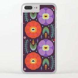 Flowerfully Folk Clear iPhone Case