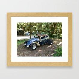 Rat Rod custom car photoart Framed Art Print