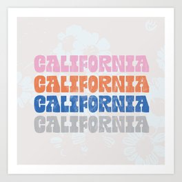 vintage california Art Print