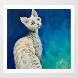 Devon Rex named Heaven Art Print