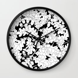 Composition of Oak Leaves and Acorns Wall Clock