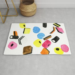 Watercolor Licorice Candy Sweets Rug