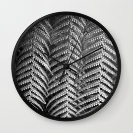 Plant leaf BW Wall Clock