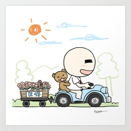 K Young-Outing(1) Art Print