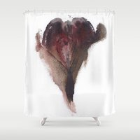vagina Shower Curtains featuring AshleyLane's Vagina Print No.3 by Nipples of Venus