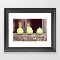 3 Pears Framed Art Print