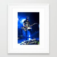 pierce the veil Framed Art Prints featuring Vic Fuentes - Pierce the Veil - Manchester - 3/6/13 by Beth Mellett