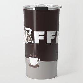 Coffee Pot Head - Brown Travel Mug
