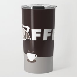 Coffee Pot Head - Brown Travel Mug