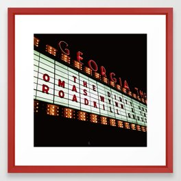 Georgia Theater Framed Art Print