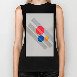 Abstract Suprematism Equilibrium Art Red Blue Yellow Biker Tank