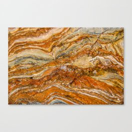 Orange Rock Texture Canvas Print