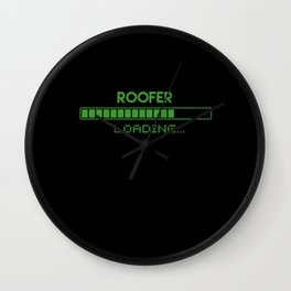 Roofer Loading Wall Clock