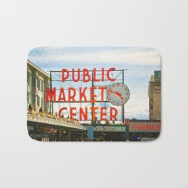 Seattle Pike Place Market Bath Mat