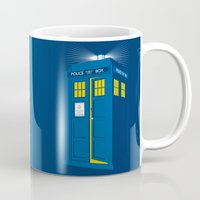 tardis Mugs featuring TARDIS by Digital Arts & Crafts by eXistenZ