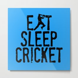 Eat Sleep Cricket Metal Print