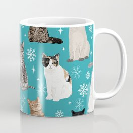 Cat breeds snowflakes winter cuddles with kittens cat lover essential cat gifts Coffee Mug