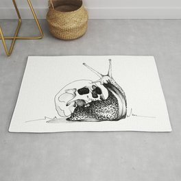 This Skull Is My Home (Snail & Skull) Rug