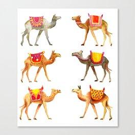 Cute watercolor camels Canvas Print