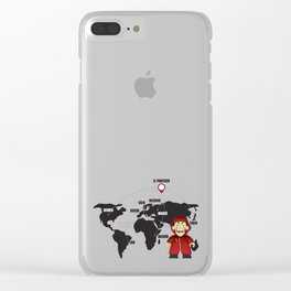 La casa de Papel Money Heist Map Clear iPhone Case