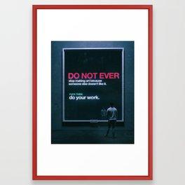 PLEASE SHARE. (everyday 11.28.18) Framed Art Print