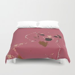 Pink Lady - Dachshund, Weiner Dog, Doxie, everywhere!   Duvet Cover