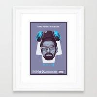 breaking bad Framed Art Prints featuring BREAKING BAD by Mike Wrobel