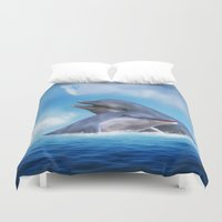 dolphins Duvet Covers featuring Dolphins by Susann Mielke