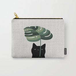 Cat and Plant 16 Carry-All Pouch
