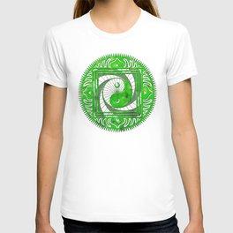 yin yang oonidaoma leaves T-shirt